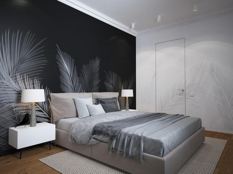 nội thất phòng ngủ màu xám