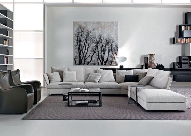 nội thất màu xám tối giản