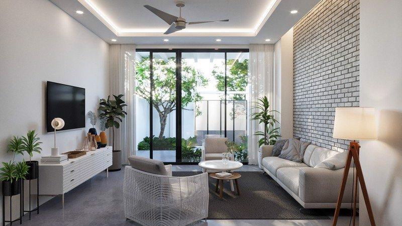 thiết kế phòng khách 4m