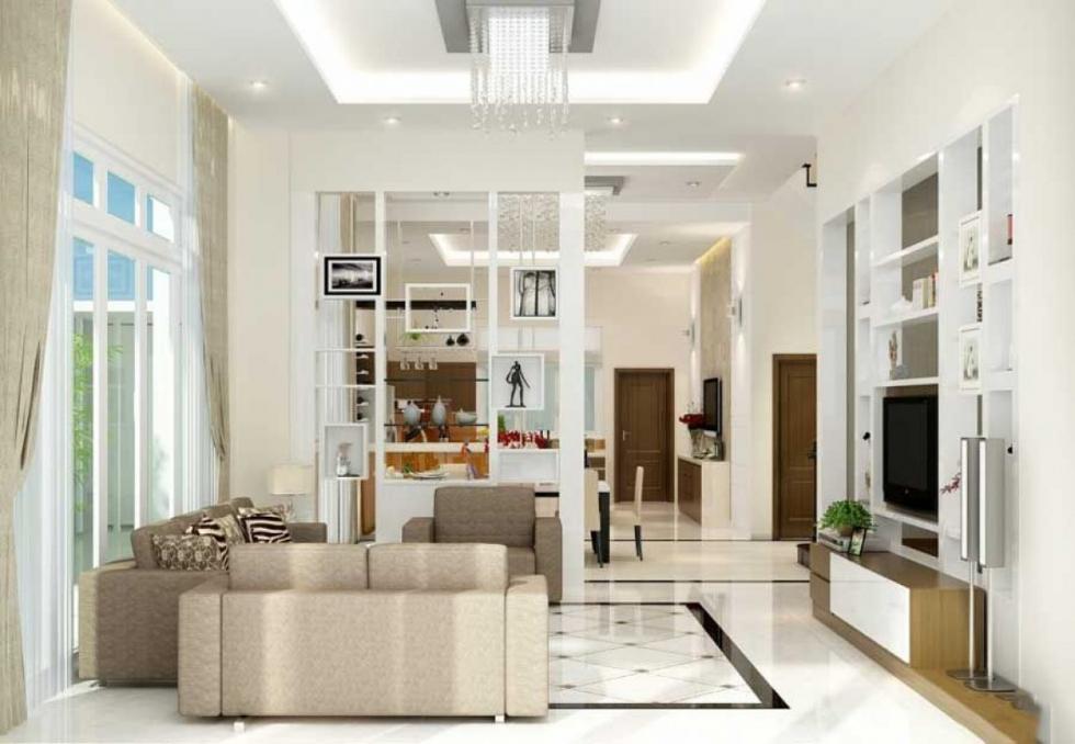 Phòng khách thiết kế 4m