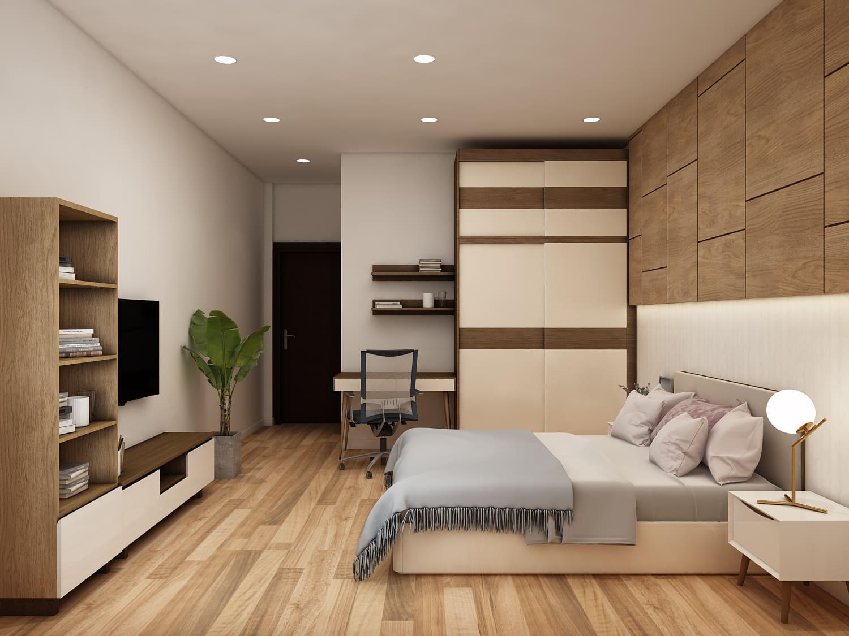 Mẫu thiết kế phòng ngủ nhà cấp 4 thanh lịch