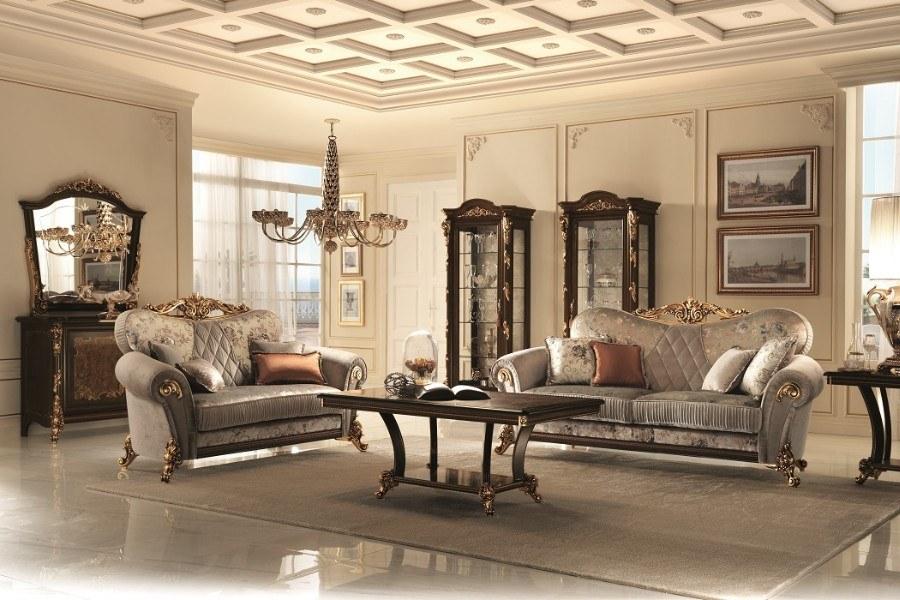 Nội thất phòng khách theo phong cách thiết kế Renaissance