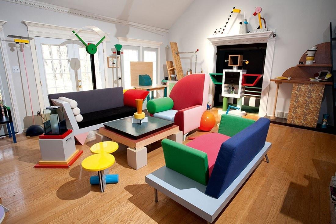Phòng khách độc đáo theo phong cách Postmodernism