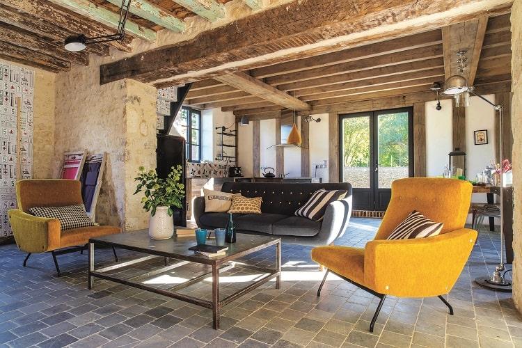 Phòng khách theo phong cách Vintage