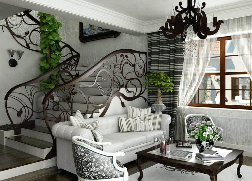 Nội thất phòng khách phong cách Art Nouveau