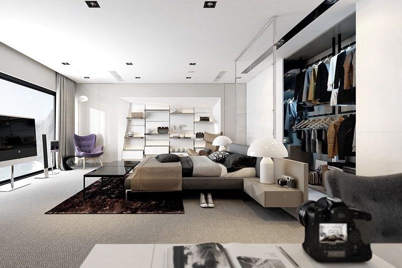 Nội thất phòng khách theo phong cách Bauhaus