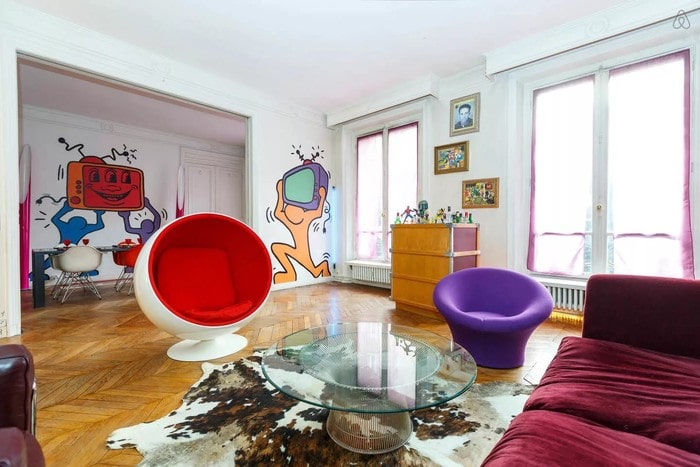Phòng khách phong cách Pop Art