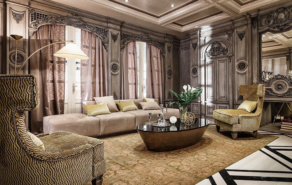 Thiết kế phòng khách theo phong cách Art Nouveau