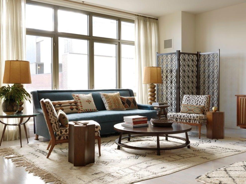 Phòng khách phong cách Mid-Century Modern