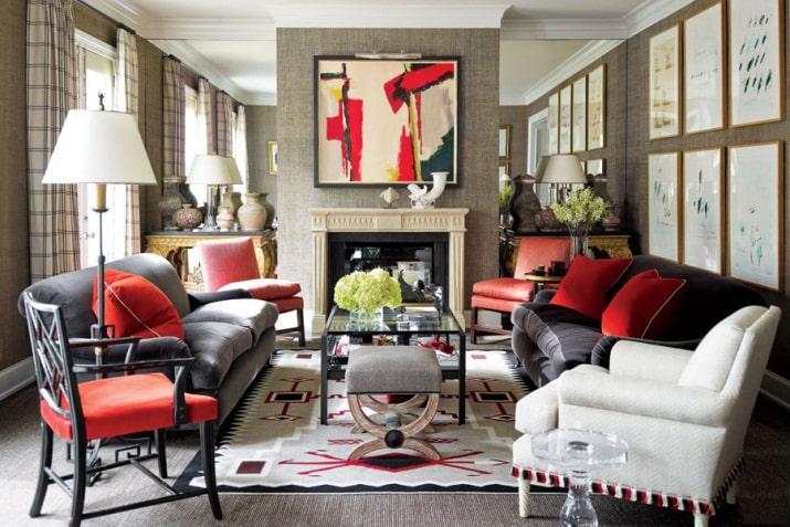Nội thất phòng khách theo phong cách Maverick