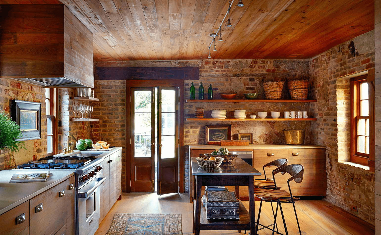 Phòng bếp phong cách Rustic