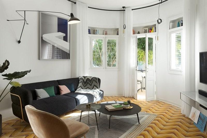 Phòng khách theo phong cách theo phong cách Bauhaus