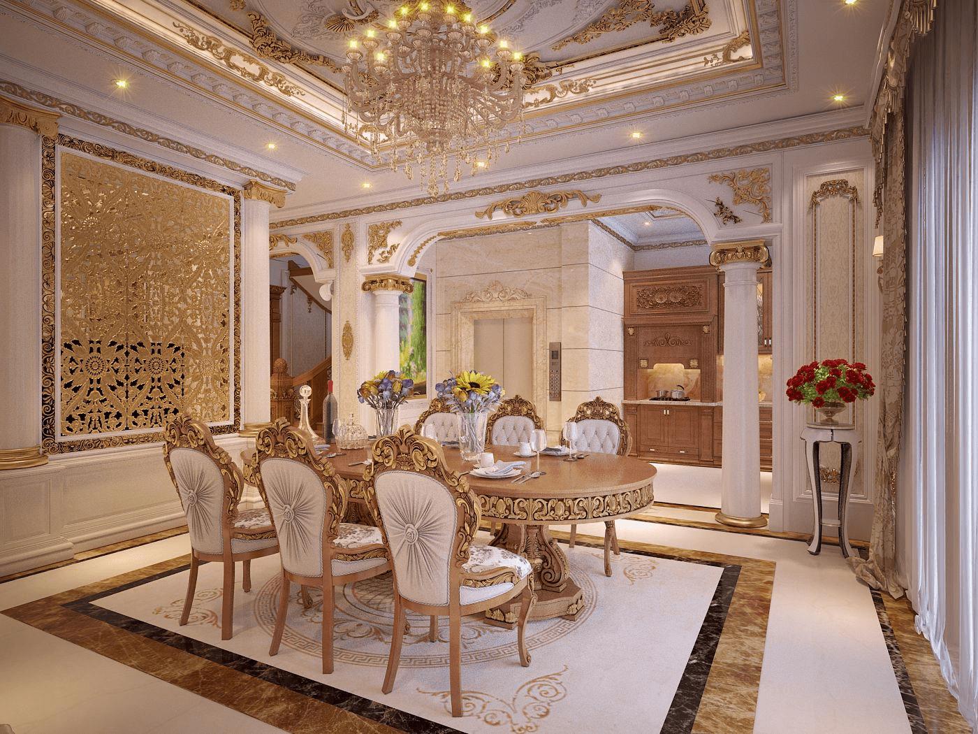 Phòng ăn theo phong cách Baroque