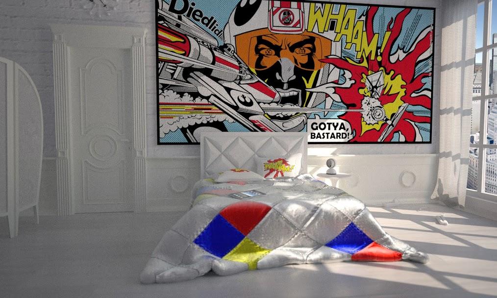 Phòng ngủ phong cách Pop Art