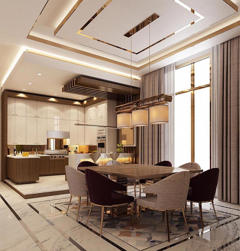 Thiết kế phòng bếp Luxury