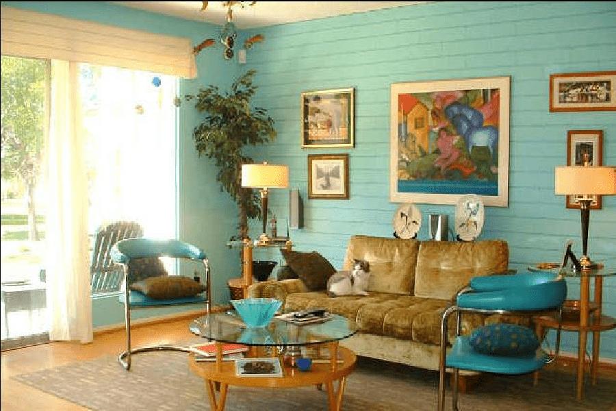 Phòng khách theo phong cách Retro