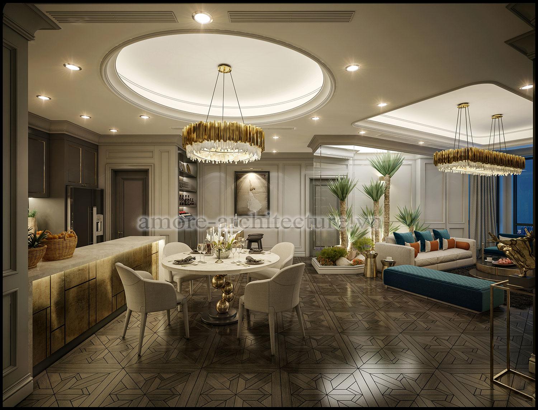 thiết kế nội thất căn hộ chung cư 2 phòng ngủ