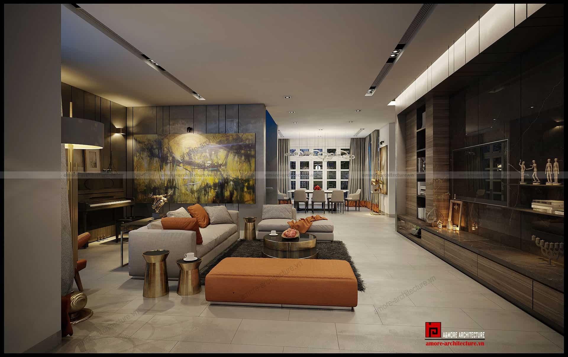 Thiết kế nội thất cho biệt thự đẳng cấp Ciputra