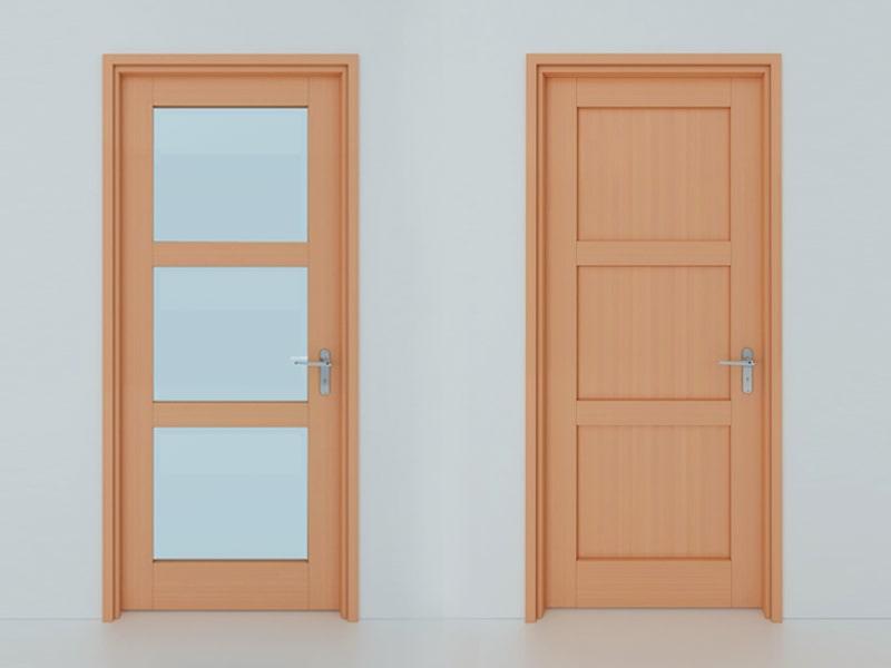 Hình ảnh minh họa kích thước cửa chính theo lỗ ban 1 cánh