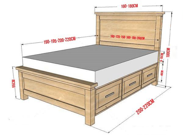 Kích thước giường ngủ hợp với phong thủy