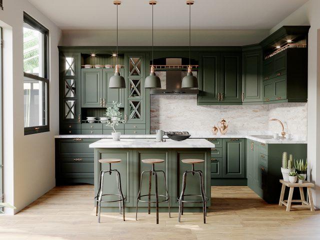 thiết kế phòng bếp rộng bao nhiêu