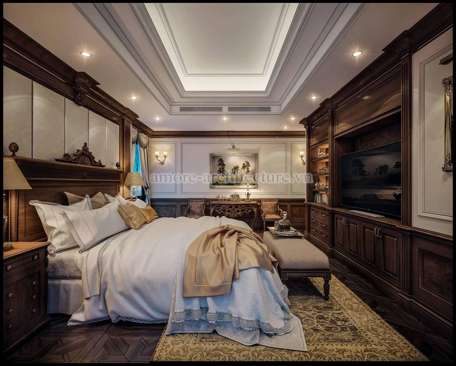 thiết kế nội thất chung cư cổ điển độc đáo