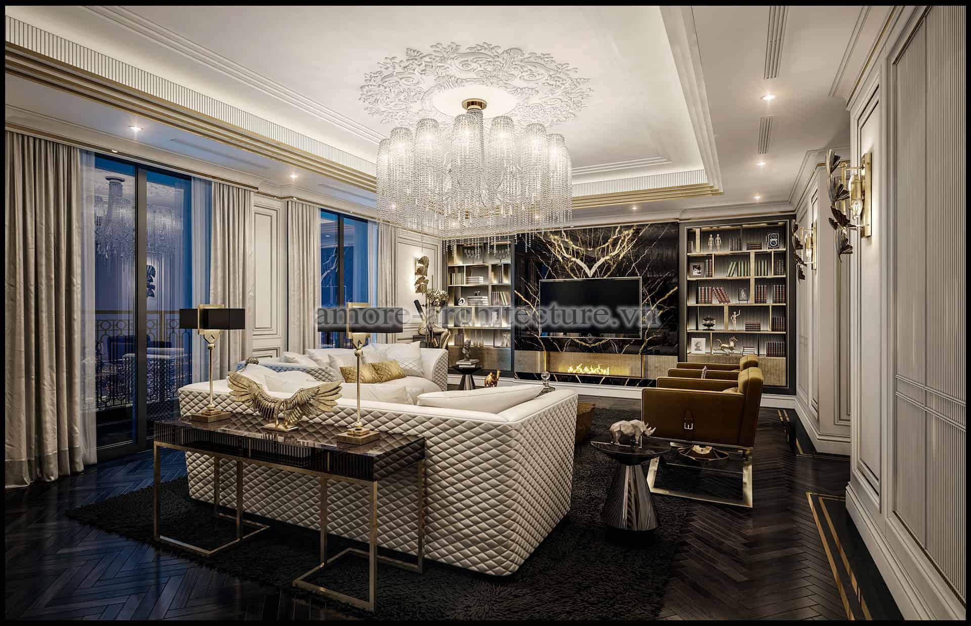 thiết kế nội thất chung cư cổ điển