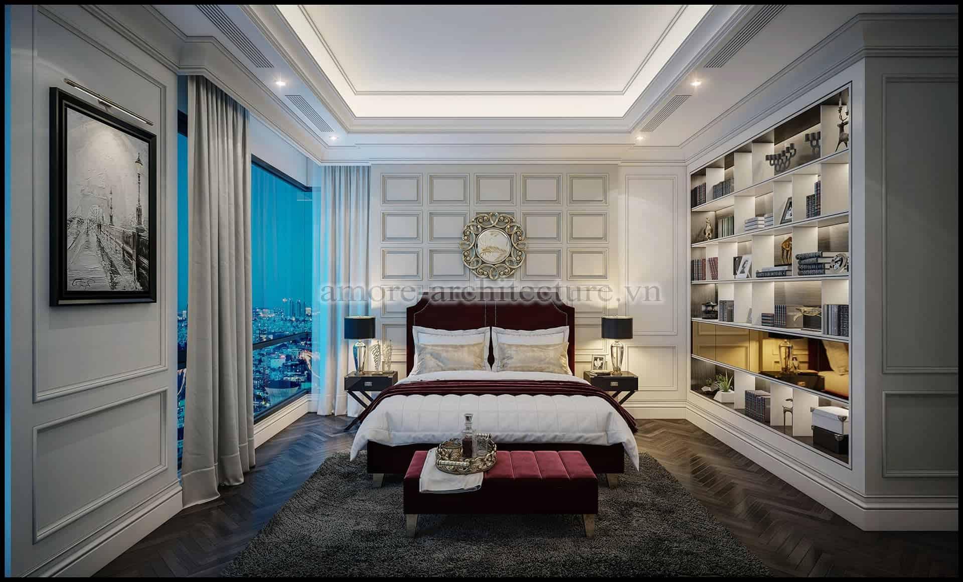thiết kế nội thất chung cư cổ điển thanh lịch