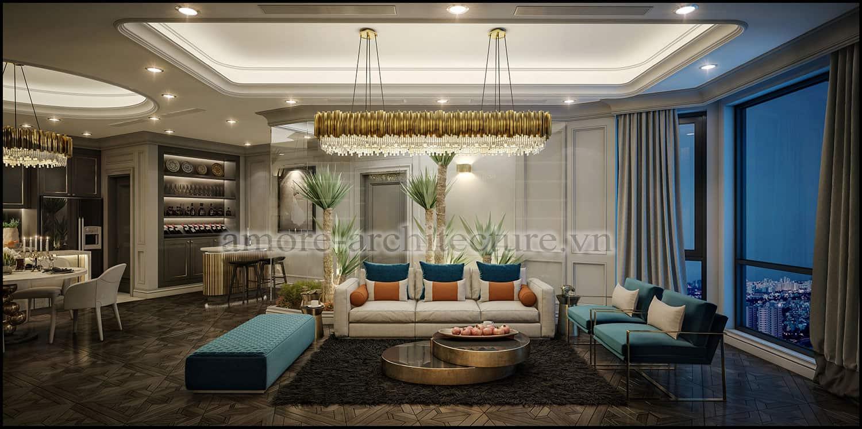 thiết kế nội thất chung cư cổ điển tiện nghi