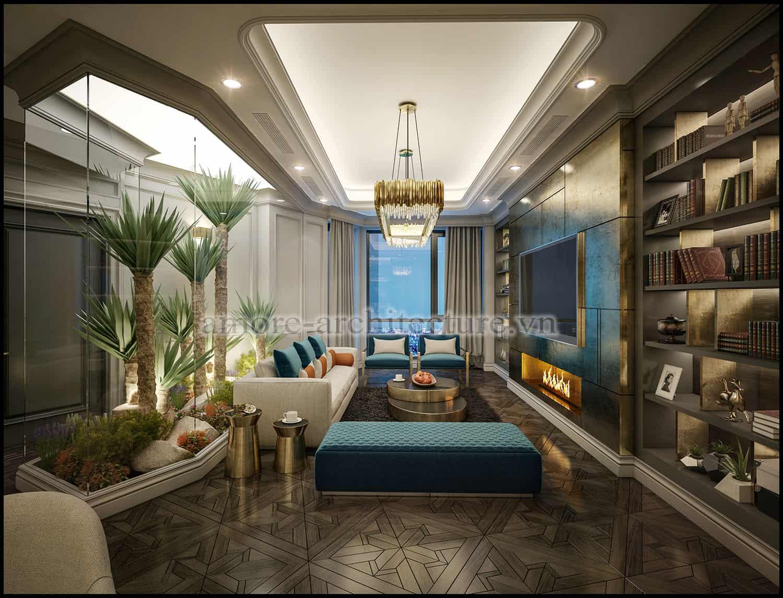 thiết kế nội thất chung cư cổ điển sang trọng