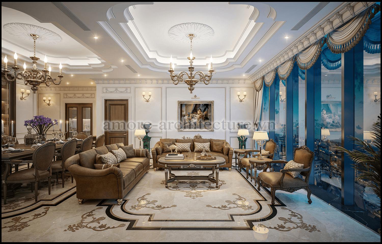 thiết kế nội thất tân cổ điển chung cư
