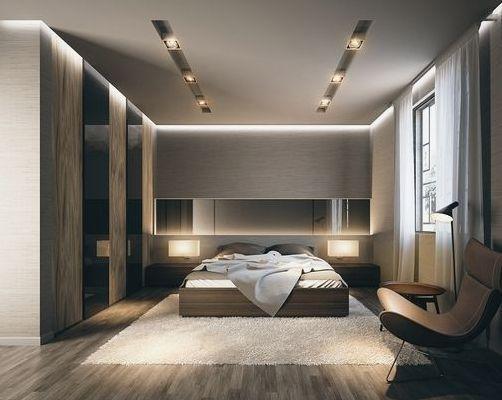 Phòng ngủ sang trọng với phong cách đương đại