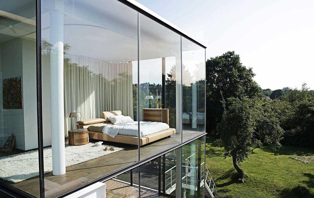 phòng ngủ vách kính