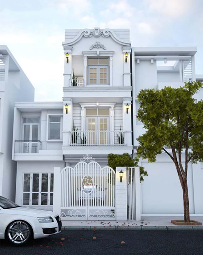 Nhà mặt tiền 5m hiện đại