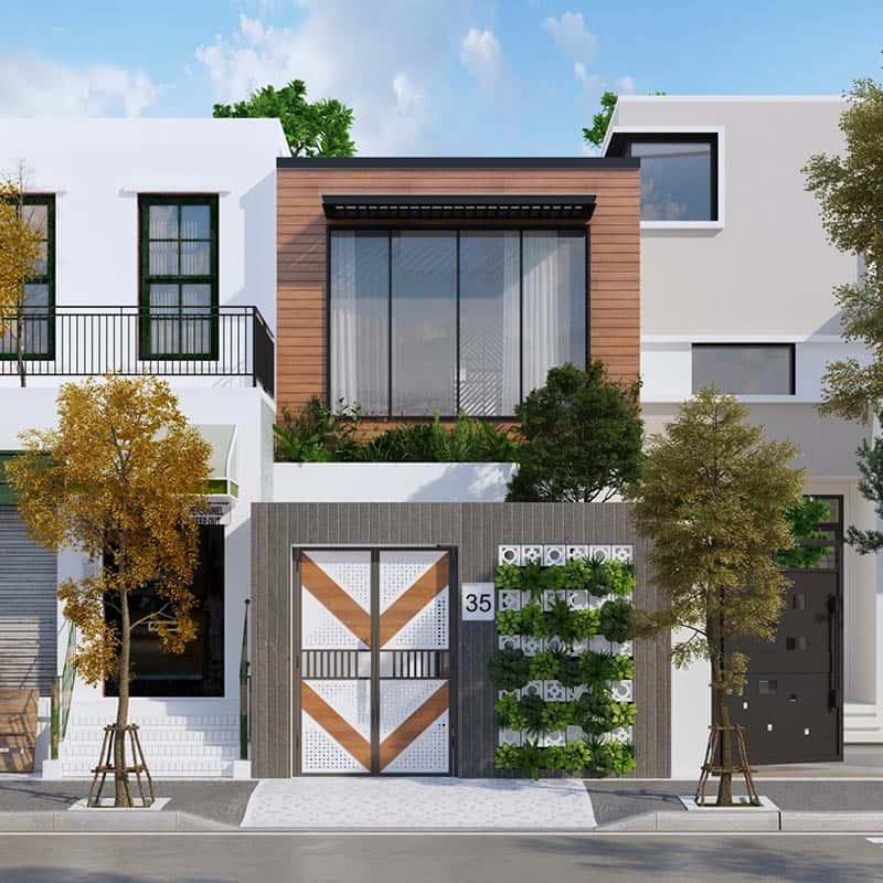 : Nhà mặt tiền 5m hiện đại