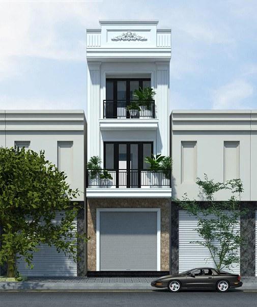Nhà mặt tiền 5m phong cách tân cổ điển