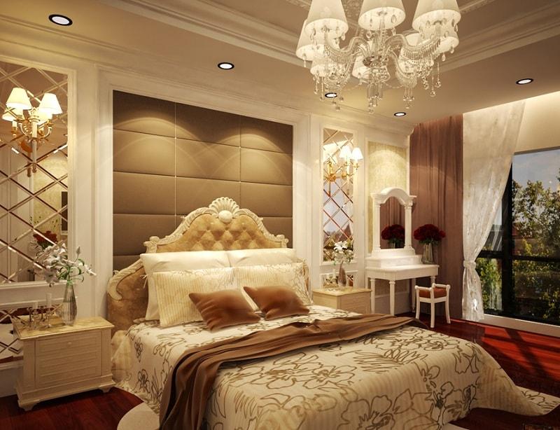 bố trí phòng ngủ 15m2 đẹp mắt