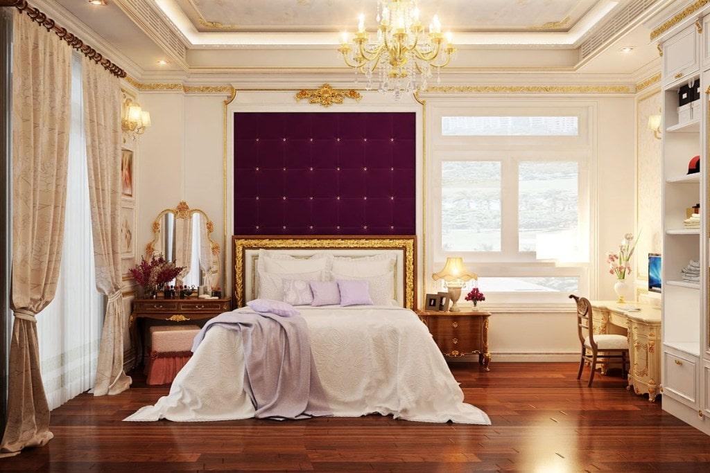 bố trí nội thất phòng ngủ 15m2
