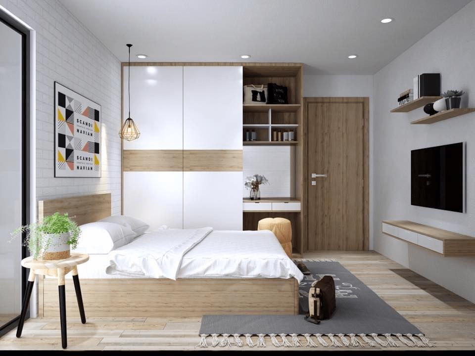 bố trí nội thất phòng ngủ 20m2
