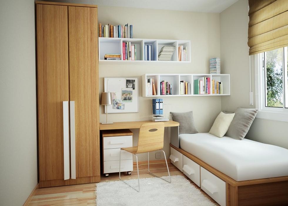 bố trí phòng ngủ nhỏ 9m2
