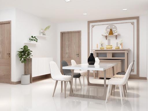 Phòng khách với màu trắng