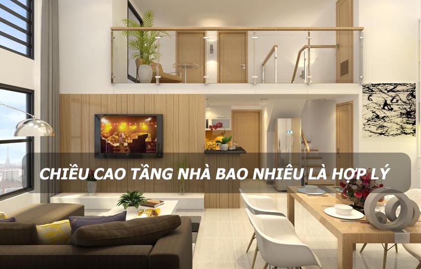 Chiều cao lý tưởng của tầng nhà theo phong thủy