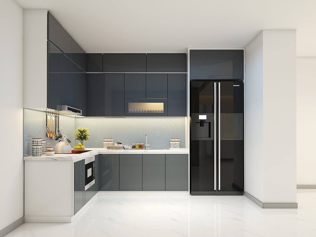 bố trí phòng bếp 15m2