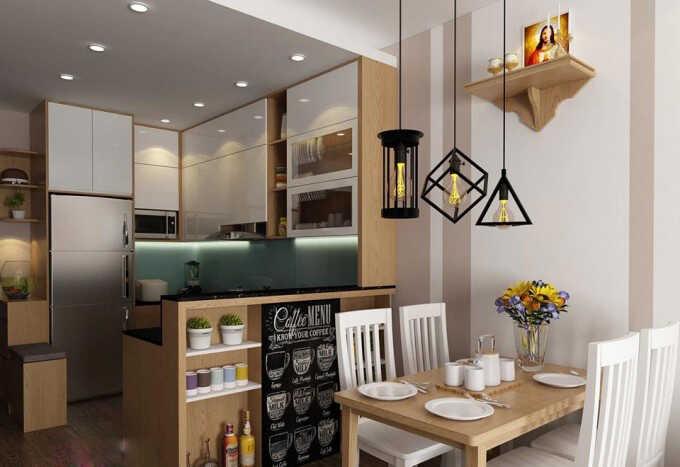 nội thất phòng bếp chung cư
