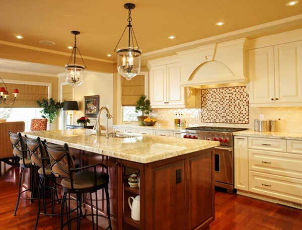 Thiết kế phòng bếp Tân cổ điển tiện nghi