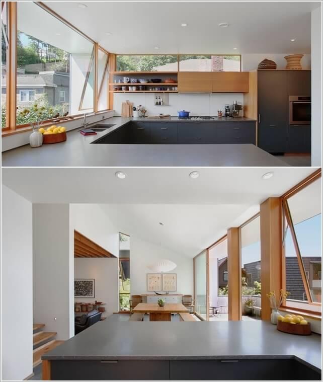 phòng bếp không có cửa sổ