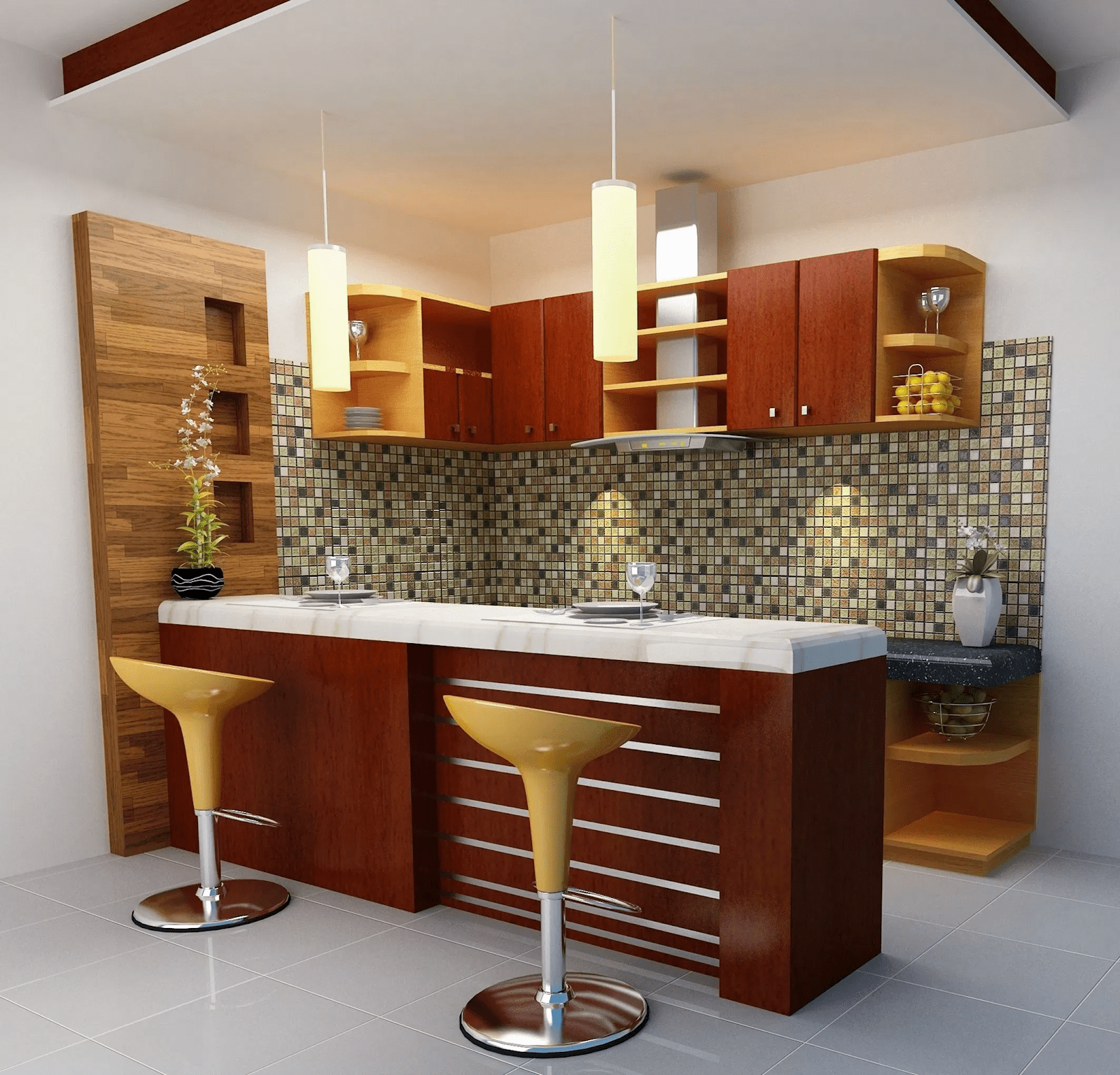 thiết kế phòng bếp có quầy bar