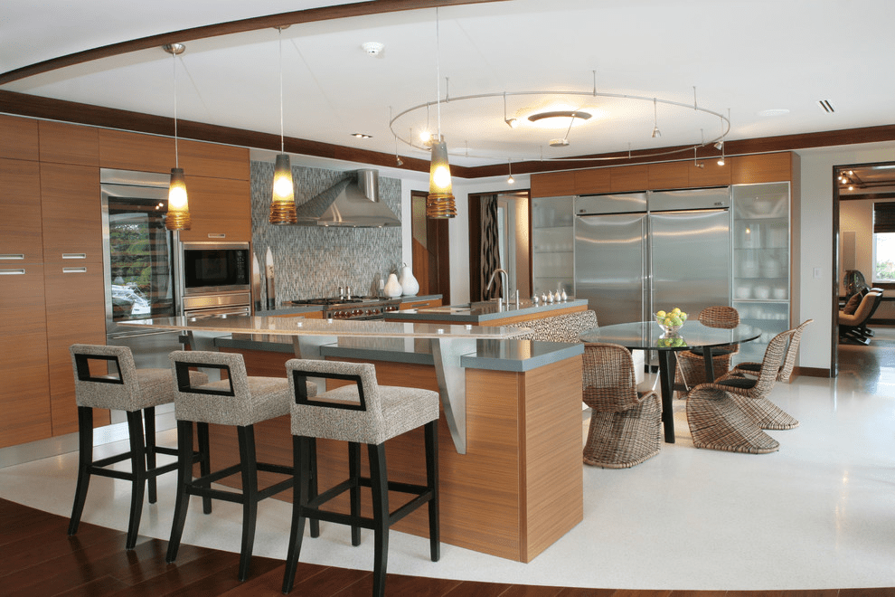 nhà bếp có quầy bar