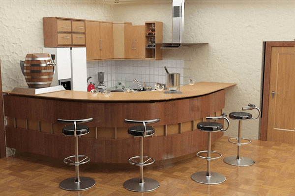 thiết kế bếp có quầy bar