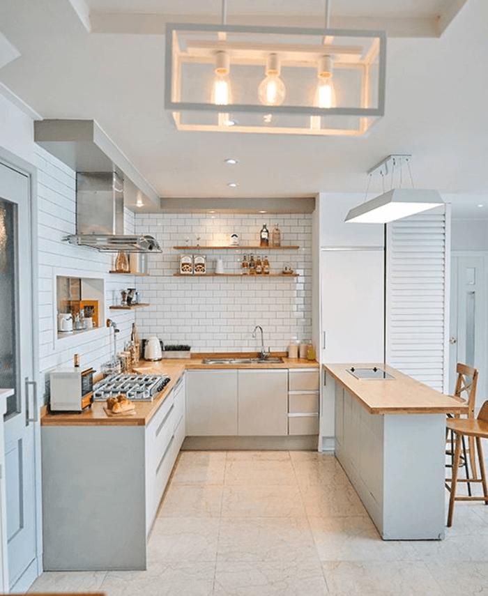 thiết kế nhà bếp có quầy bar